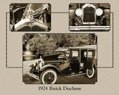 Photograph - 1924 Buick Duchess Antique Vintage Photograph Fine Art Prints 122 by M K  Miller