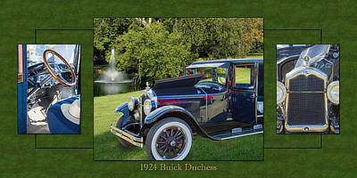 Photograph - 1924 Buick Duchess Antique Vintage Photograph Fine Art Prints 119    by M K  Miller