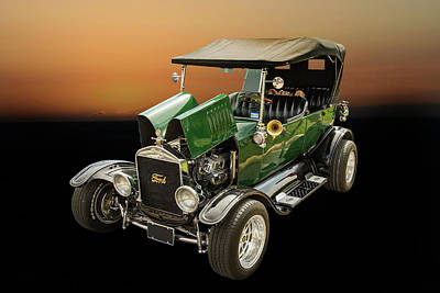 Photograph - 1924 Ford Model T Touring Hot Rod 5509.003 by M K  Miller