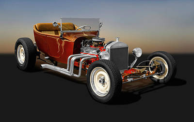Photograph - 1924 Ford T-bucket Street Rod   -  1924fordtbucket173304 by Frank J Benz