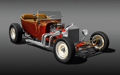 Photograph - 1924 Ford T-bucket Street Rod   -  1924fordtbuckrdstrfa173304 by Frank J Benz