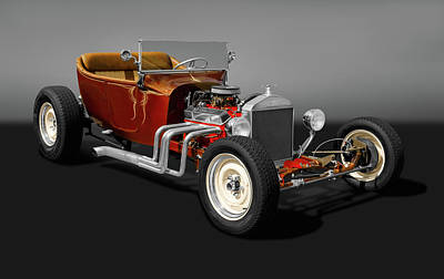 Photograph - 1924 Ford T-bucket Street Rod   -  1924tbucketfordgry173304 by Frank J Benz