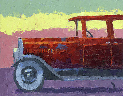 Painting - 1924 Moon Sedan by David King