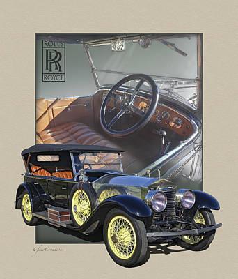 Rolls Royce Digital Art - 1924 Rolls-royce Silver Ghost by Roger Beltz