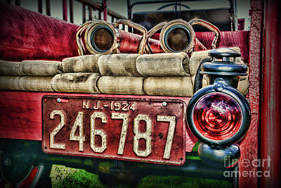 Photograph - 1924 Vintage Fire Truck by Paul Ward