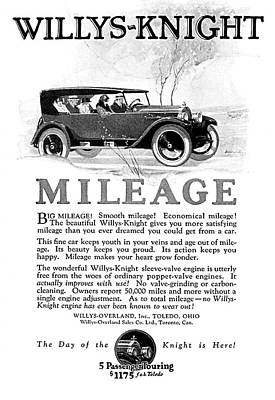 Digital Art - 1924 Willys Knight Advertiesment Restored by David King