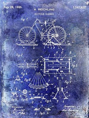 Schwinn Wall Art - Photograph - 1925 Bicycle Patent by Jon Neidert