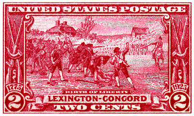 American Revolution Painting - 1925 Birth Of Liberty Stamp by Historic Image