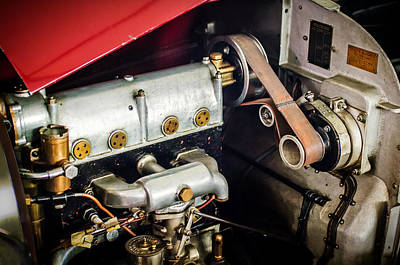 Photograph - 1925 Bugatti Brescia Type 23 Roadster Engine by Jill Reger