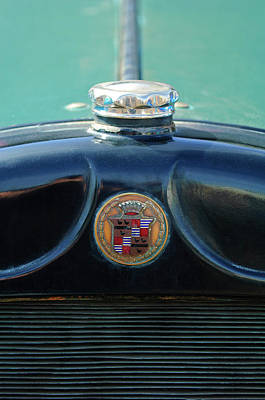 Photograph - 1925 Cadillac Hood Ornament And Emblem by Jill Reger