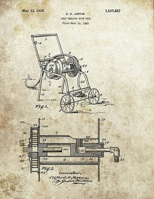Drawing - 1925 Hose Patent by Dan Sproul