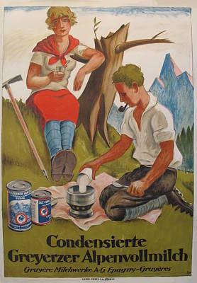 1925 Original Art Deco Poster Original by Hugo Laubi