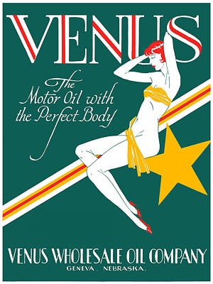 Painting - 1925 Venus Oil Company by Historic Image