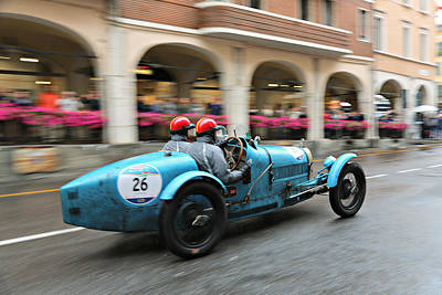 Photograph - 1926 Bugatti At Speed by Steve Natale