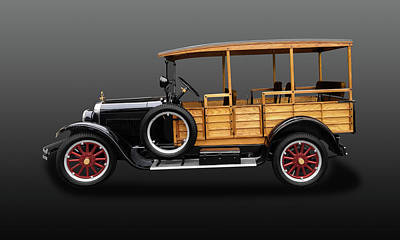 Photograph - 1926 Dodge Brothers Depot Hack Woody Wagon  -  26dgedephkgray5216 by Frank J Benz