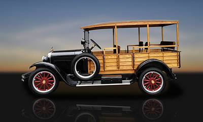 Photograph - 1926 Dodge Brothers Depot Hack Woody Wagon  -  26dgedephk5216 by Frank J Benz