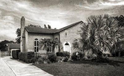 1926 Florida Venetian Style Home - 30 Art Print by Frank J Benz