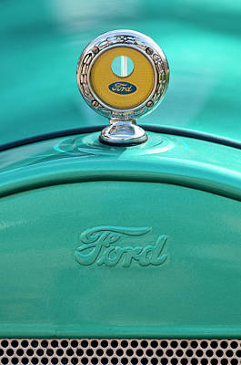1926 Ford Coupe Hood Ornament Art Print