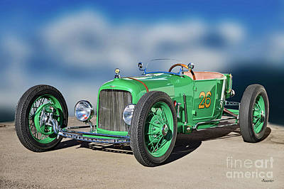 Beach House Signs - 1926 Ford Model T Dry Lakes Roadster II by Dave Koontz
