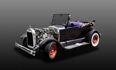 Photograph - 1926 Ford Model T Roadster Convertible  -  1926fdmodt425 by Frank J Benz
