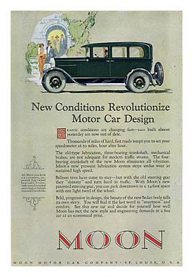 Digital Art - 1926 Moon Sedan Ad by David King