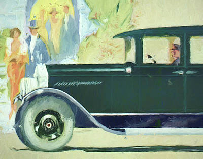 Digital Art - 1926 Moon Sedan Ptg by David King