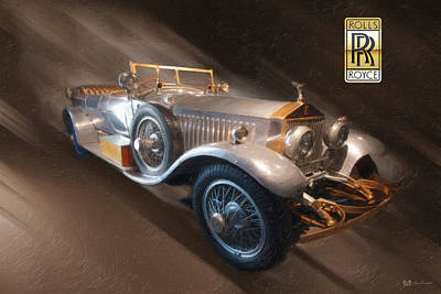 Digital Art - 1926 Rolls-royce 40-50 Hp Phantom I Barker Torpedo Tourer 3d Badge  by Serge Averbukh