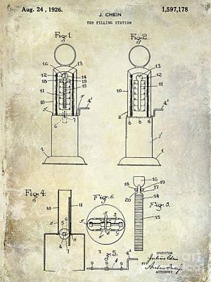 Filling Station Photograph - 1926 Toy Filling Station Patent by Jon Neidert