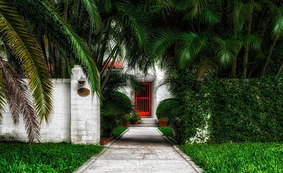 Photograph - 1926 Venetian Style Florida Home Entrance - 1 by Frank J Benz