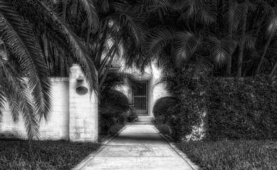 Photograph - 1926 Venetian Style Florida Home Entrance - 2 by Frank J Benz