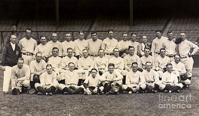 Babe Ruth Vintage Photograph - 1926 Yankees Team Photo by Jon Neidert