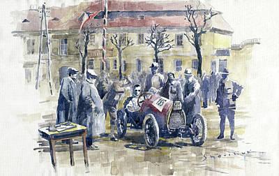 1922 Zbraslav Jiloviste Start Bugatti T13 Brescia. Art Print