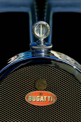 1927 Bugatti Replica Hood Ornament Print by Jill Reger