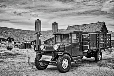 Photograph - 1927 Dodge Graham In Bodie In Black And White by Lynn Bauer