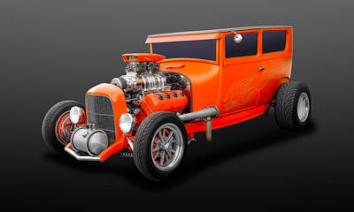 Photograph - 1927 Ford 2 Door Sedan Hemi Powered   -   1927fdhemsd59 by Frank J Benz