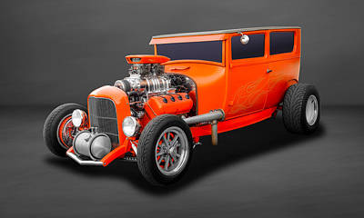 Photograph - 1927 Ford 2 Door Sedan Hemi Powered  -  27hemfd60 by Frank J Benz