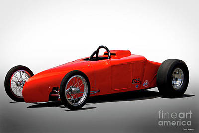 Photograph - 1927 Ford Aa Fuel Altered 'orange Wedge' II by Dave Koontz