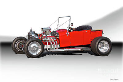 1927 Ford Roadster Photograph - 1927 Ford Bucket T Roadster Pickup I by Dave Koontz