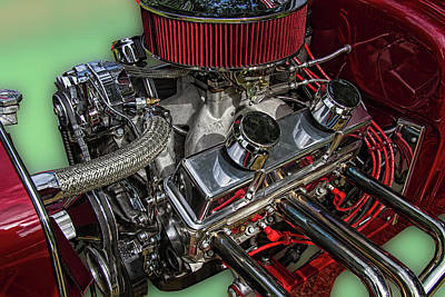 1927 Ford Roadster Photograph - 1927 Ford Hot Rod Engine by Nick Gray