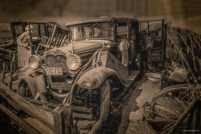 Photograph - 1927 Ford Model T And 1929 Ford Model A by LeeAnn McLaneGoetz McLaneGoetzStudioLLCcom
