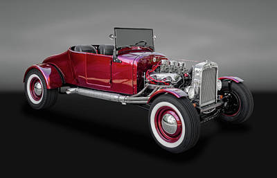 1927 Ford Model T Runabout Street Rod  -  1927fdmdltbw015 Art Print