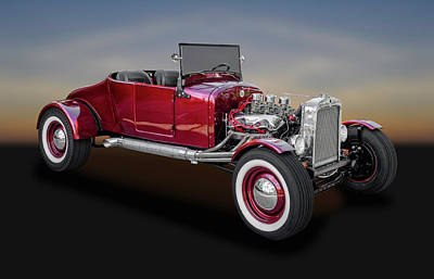 1927 Ford Model T Runabout Street Rod  -  27fdmdlt015 Art Print