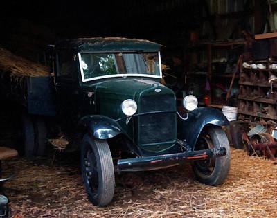 Ford Painting - 1927 Ford Model Tt Pickup Truck Digital Oil by Chris Flees
