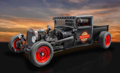 Ford Custom V8 Photograph - 1927 Ford Pickup Truck by Frank J Benz