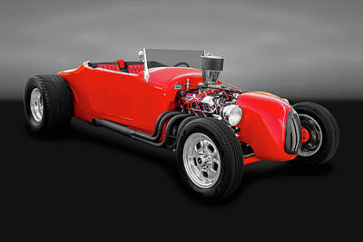 1927 Ford Roadster  -  1927fordrdstrgry0057 Art Print by Frank J Benz