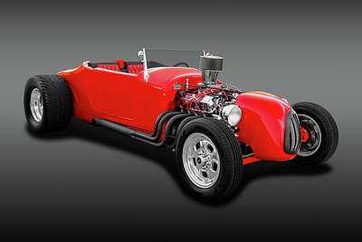 1927 Ford Roadster Photograph - 1927 Ford Roadster  -  1927frdrdsterfa0057 by Frank J Benz