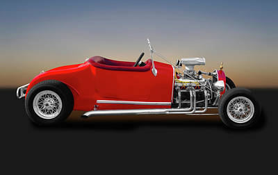 Photograph - 1927 Ford Roadster  -  27fordstreetroadster173371 by Frank J Benz