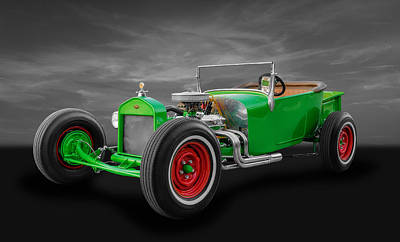 1927 Ford Roadster Photograph - 1927 Ford T Model Roadster by Frank J Benz