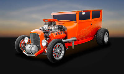 Photograph - 1927 Hemi Powered Ford 2 Door Sedan   -   1927fdsedhem58 by Frank J Benz