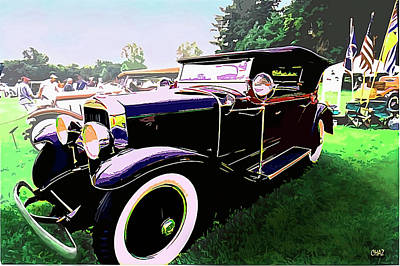 Painting - 1927 La Salle Phaeton  by CHAZ Daugherty